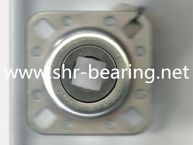 FD209-1-1/8SQ Agriculture Bearing, Flanged Disc, Relubricable, Four Bolts.